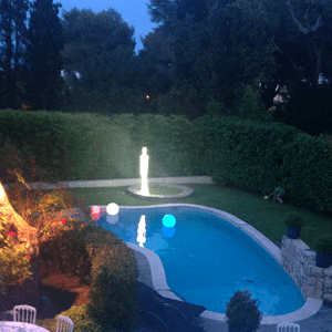 Lampadaire de jardin decoration spot lumiere led realisation